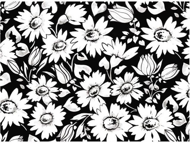 Crazy Daisy Chintz 200 mm x 200 mm