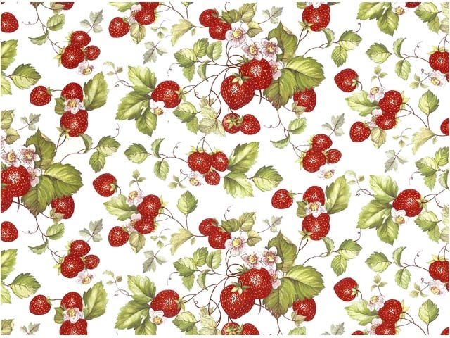 Strawberries Chintz 200 mm x 200 mm