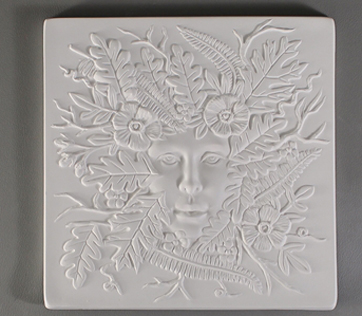 Textured Fusing Tile - Lady in the Woods 7""