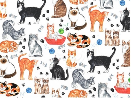 Cats Chintz 200 mm x 200 mm