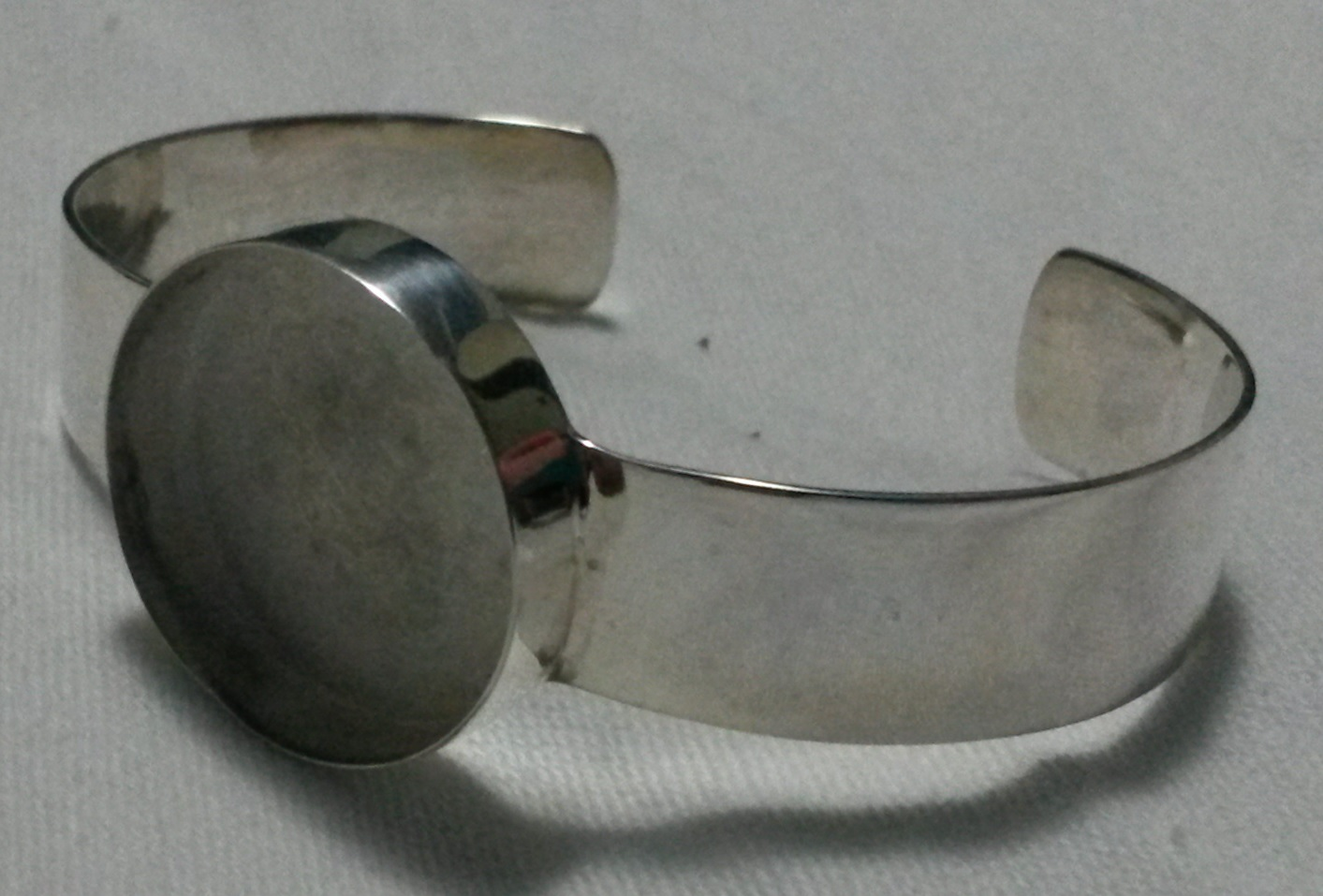 Silver Plated Bracelet with Deep 1in finding