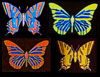 Dichroic Butterflies - Large - 20 mm x 30 mm - Single