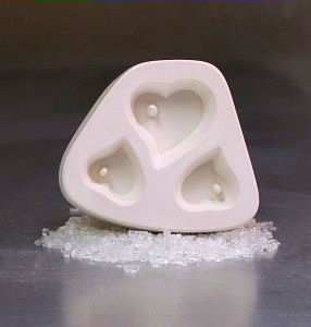Holey Hearts Trio Cabochon Casting Mould