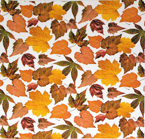 Autumn Leaves Chintz 200 mm x 200 mm