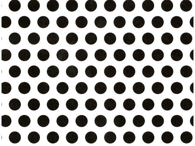 Polka Dot Black Chintz 200 mm x 200 mm