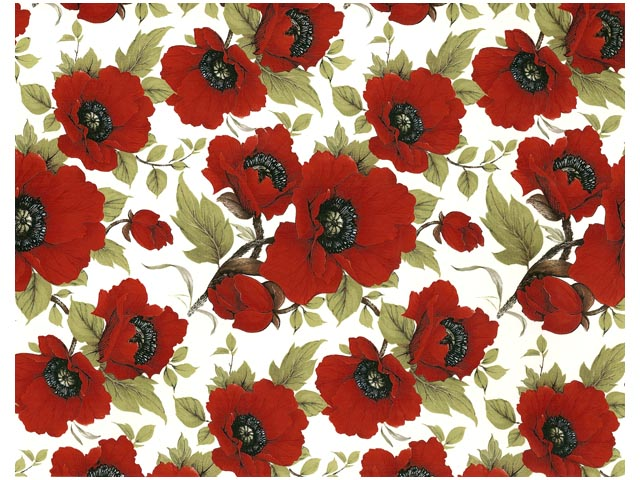 Large Poppy Chintz 200 mm x 200 mm