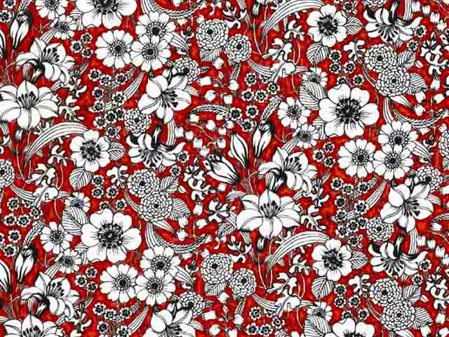 Valencia Red Chintz 200 mm x 200 mm