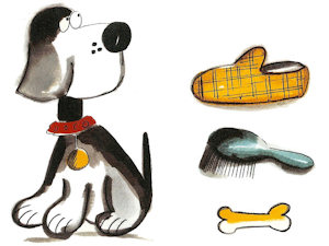 Daft Dog A (Pointer)- Small - 50 mm - Set of 4