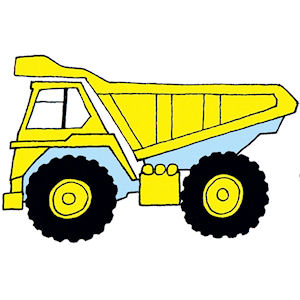 Dump Truck - Small - 40 mm - Set of 4