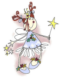 Christmas Fairy - Small - 45 mm - Set of 4