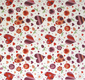 Love Hearts Chintz 100 mm x 100 mm