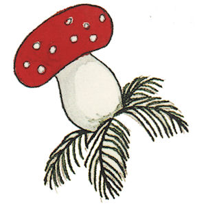 Toadstool - Large - 70 mm - Set of 2