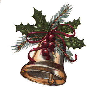 Christmas Bell - Large - 75 mm - Set of 2
