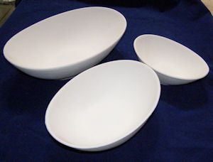 Egg Shaped Bowl - 250 mm x 160 mm