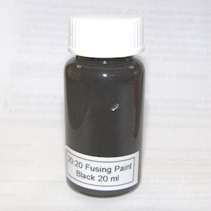 20:20 Black Glass Fusing Paint - 20 ml