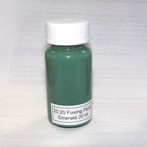 20:20 Emerald Glass Fusing Paint - 20 ml
