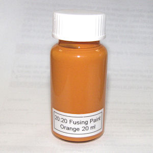 20:20 Orange Glass Fusing Paint - 20 ml