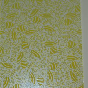 Doodle Fish in Yellow Violet on Clear