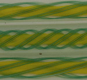 3 Green over Daffodil Yellow Square Multi Layer