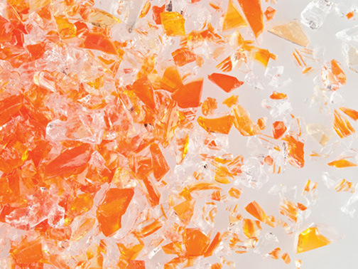 Orange Opal/Clear DT Medium per gr sold in 50gr increments