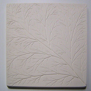 Textured Fusing Tile - Net Leaf