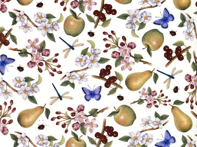 Fruit Blossom Chintz 200 mm x 200 mm