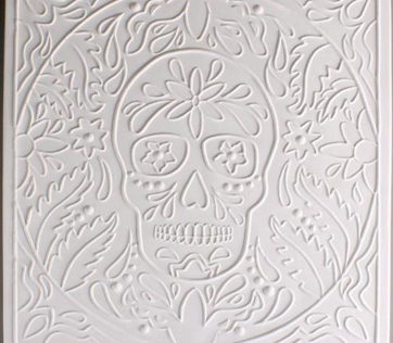Textured Fusing Tile - Day of the Dead