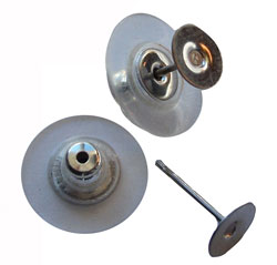 Ear Stud Pair with Clutch - Surgical Steel
