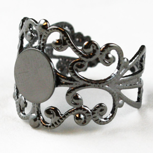 Heamatite Filigree Ring