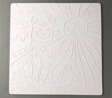 Textured Fusing Tile - Cat