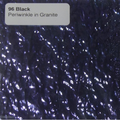 96 Periwinkle on Black Granite Ripple