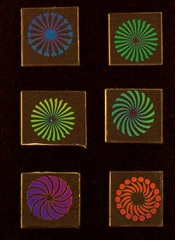 "96 Dichroic Pinwheel Designs 1"" Pack of 6"