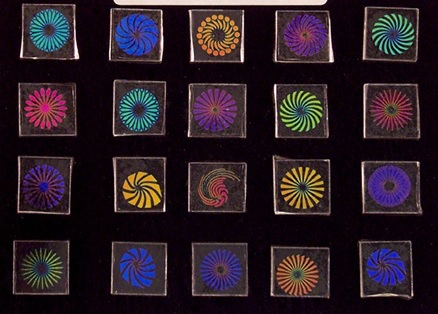 "96 Dichroic Pinwheel Designs 3/4"" Single"