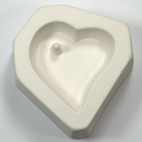 Holey Small Heart Cabochon Casting Mould