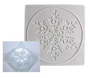 Textured Fusing Tile - Large Snowflake