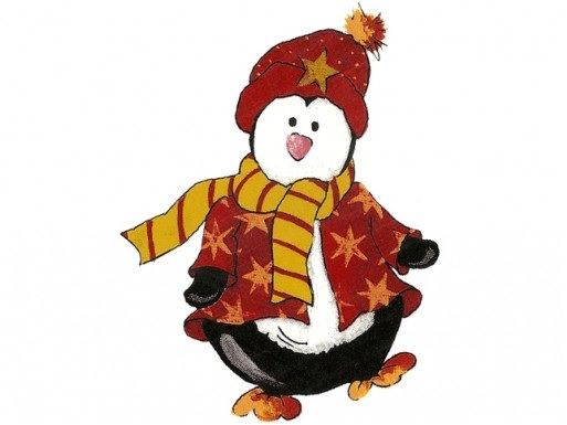 Penguin with Jacket, Scarf and Beanie 45 mm Set of 3