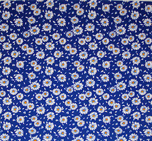 Blue Daisy Chintz 100 mm x 100 mm
