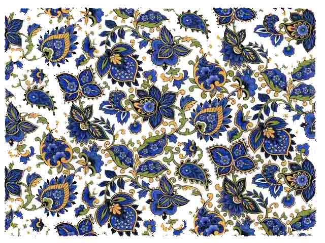 Blue Paisley Chintz 200 mm x 200 mm