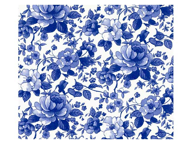 Blue Chatsworth Chintz 200 mm x 200 mm