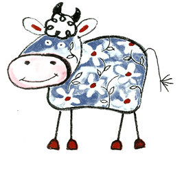 Crazy Farm Cows - Large - 80 mm - Set of 3