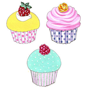 Cupcakes - Small - 50 mm - Set of 3