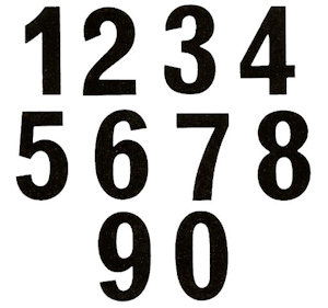 Numerals Set - Small - 25 mm