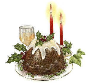 Christmas Pudding - Large - 75 mm - Set of 2