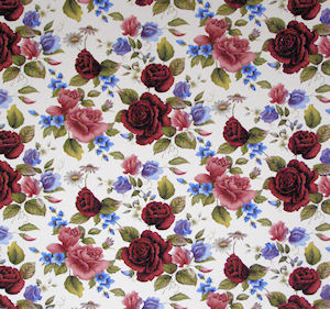 Summer Rose Chintz 200 mm x 200 mm