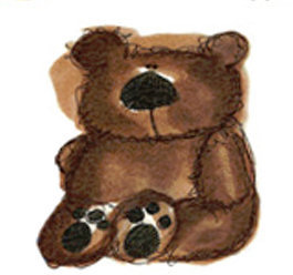 Dark Brown Teddy - Small - 45 mm - Set of 3