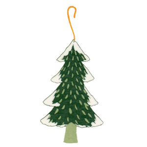 Christmas Tree and Snow - Large - 70 mm - Set of 2