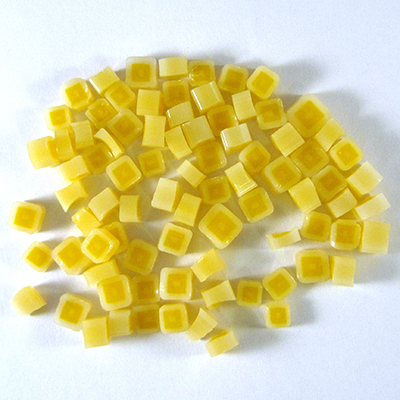 Yellow Hip to be Square Millefiori - 13 gr