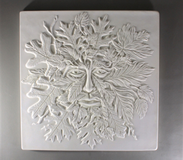 Textured Fusing Tile - Green Man