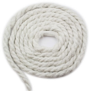 1/4 inch Ceramic Fibre Rope - 1 foot