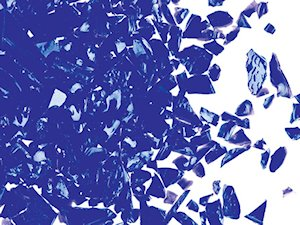Cobalt (Dark Blue) Opal Coarse Frit per gram sold in 50gr in